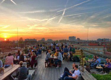 Rooftop bar HOPP Amsterdam