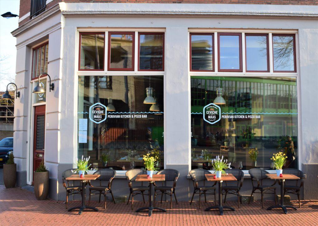Het restaurant Ceviche Ey Maas in Rotterdam