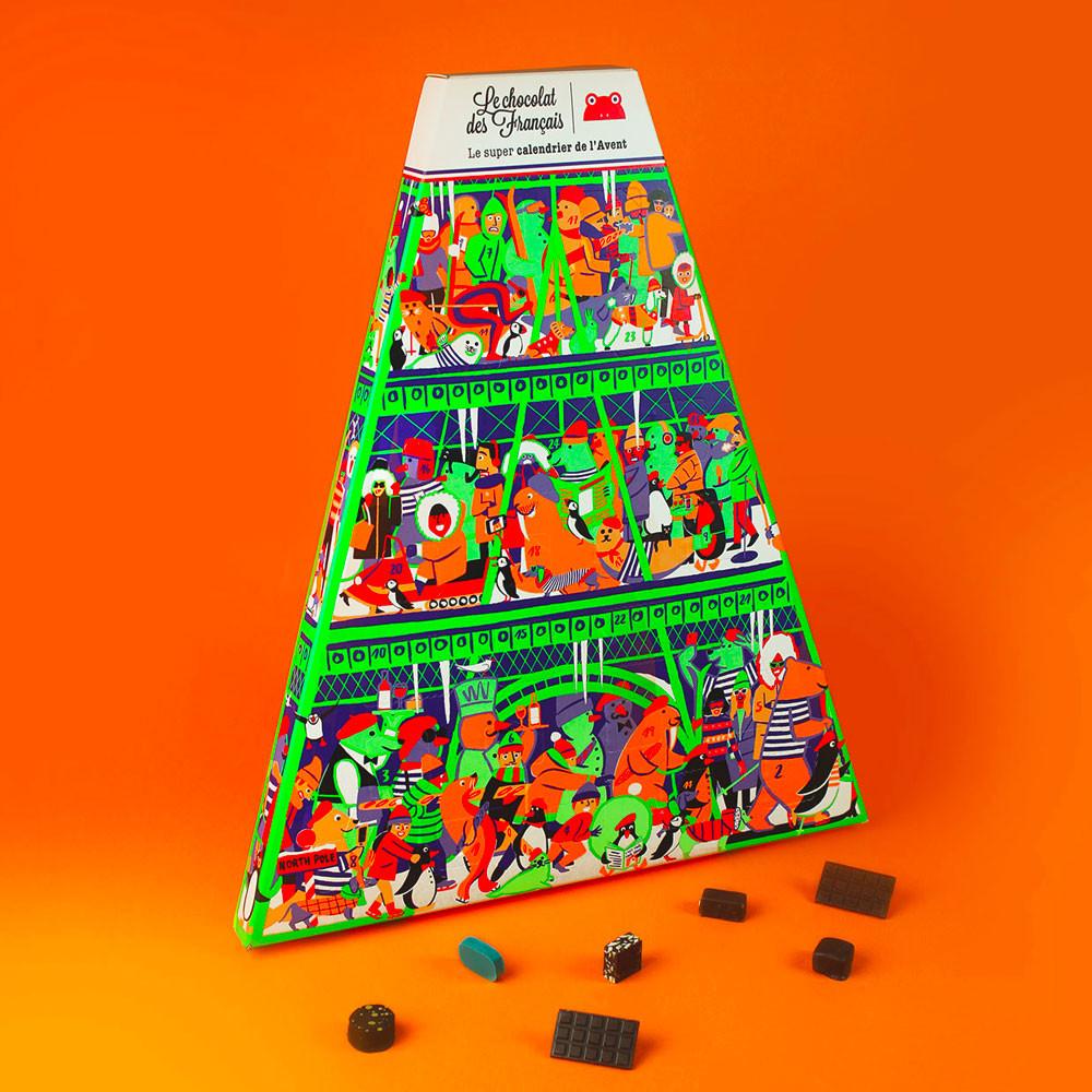 Luxe adventskalender met chocolade