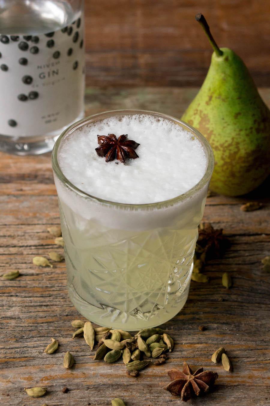 Gin fizz cocktail voor de herfst