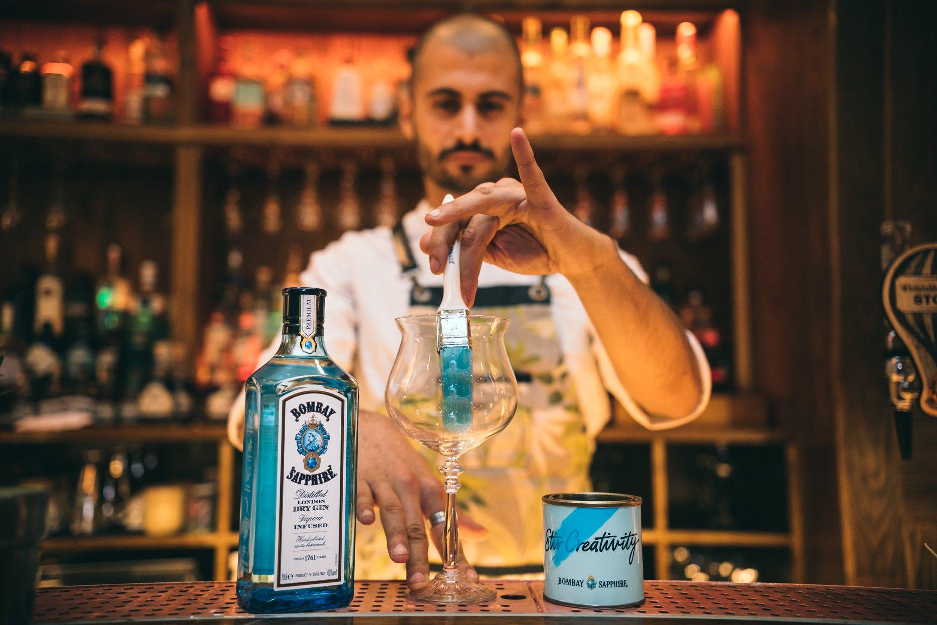 Bombay Sapphire blauw