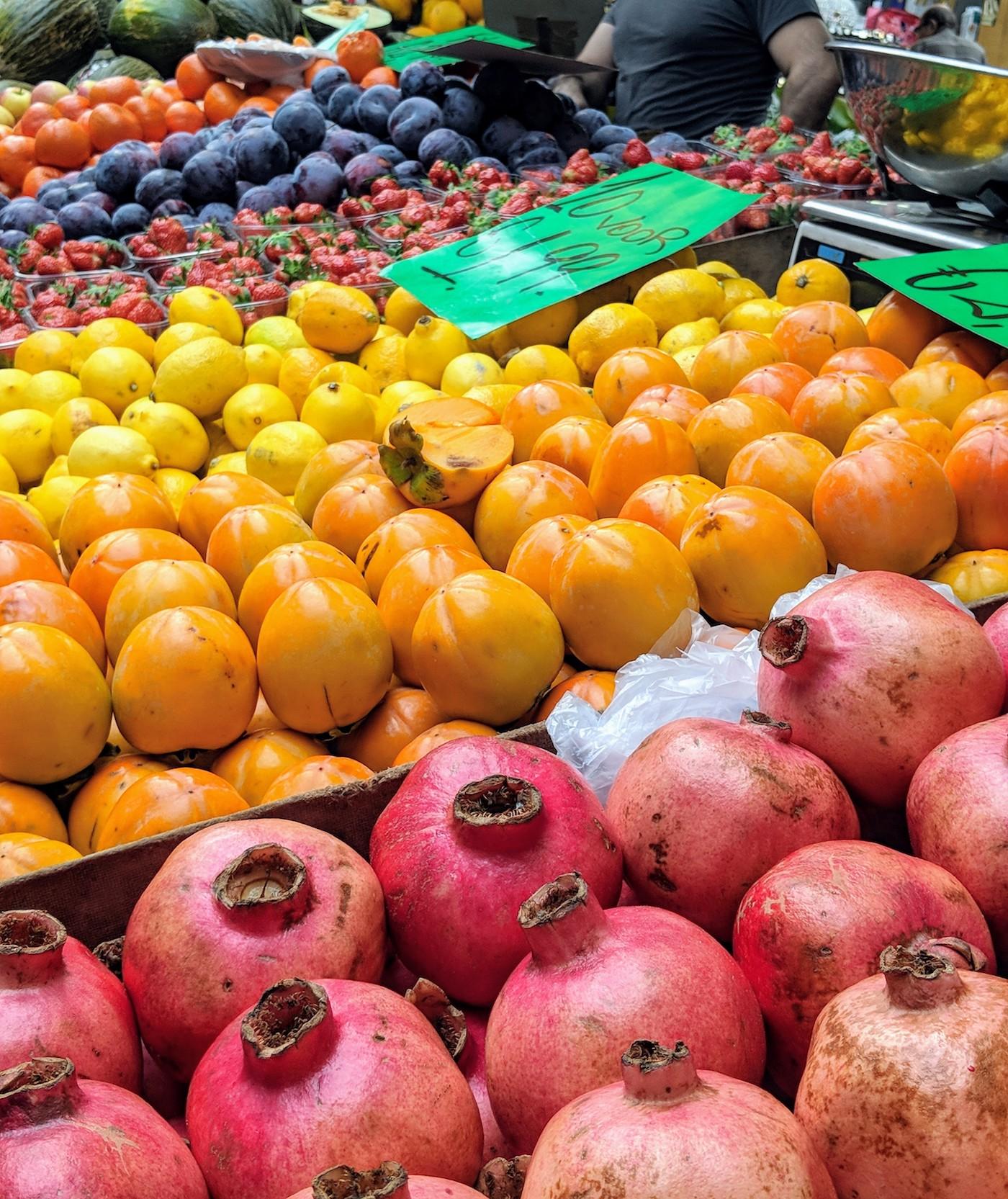 exotische gerechten Beverwijkse Bazaar vers fruit