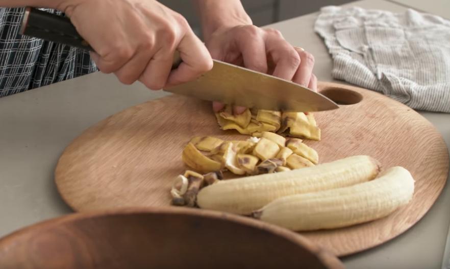taart van bananenschillen