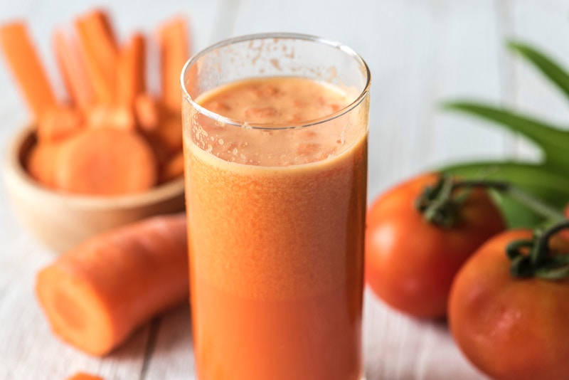 groentensap in een glas