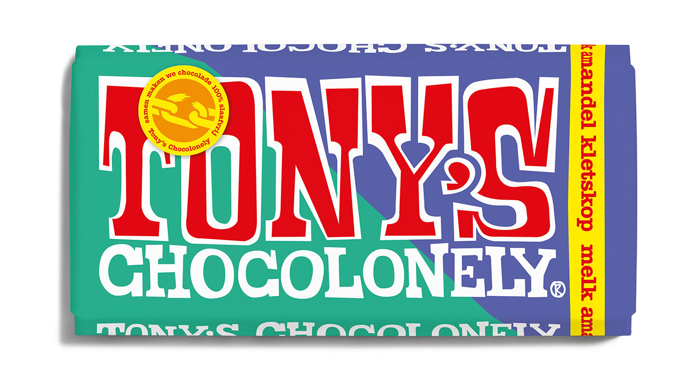 Tony's Chocolonely Melk Amandel Kletskop chocolade