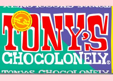 Tony's Chocolonely estafettereep amandel kletskop melk
