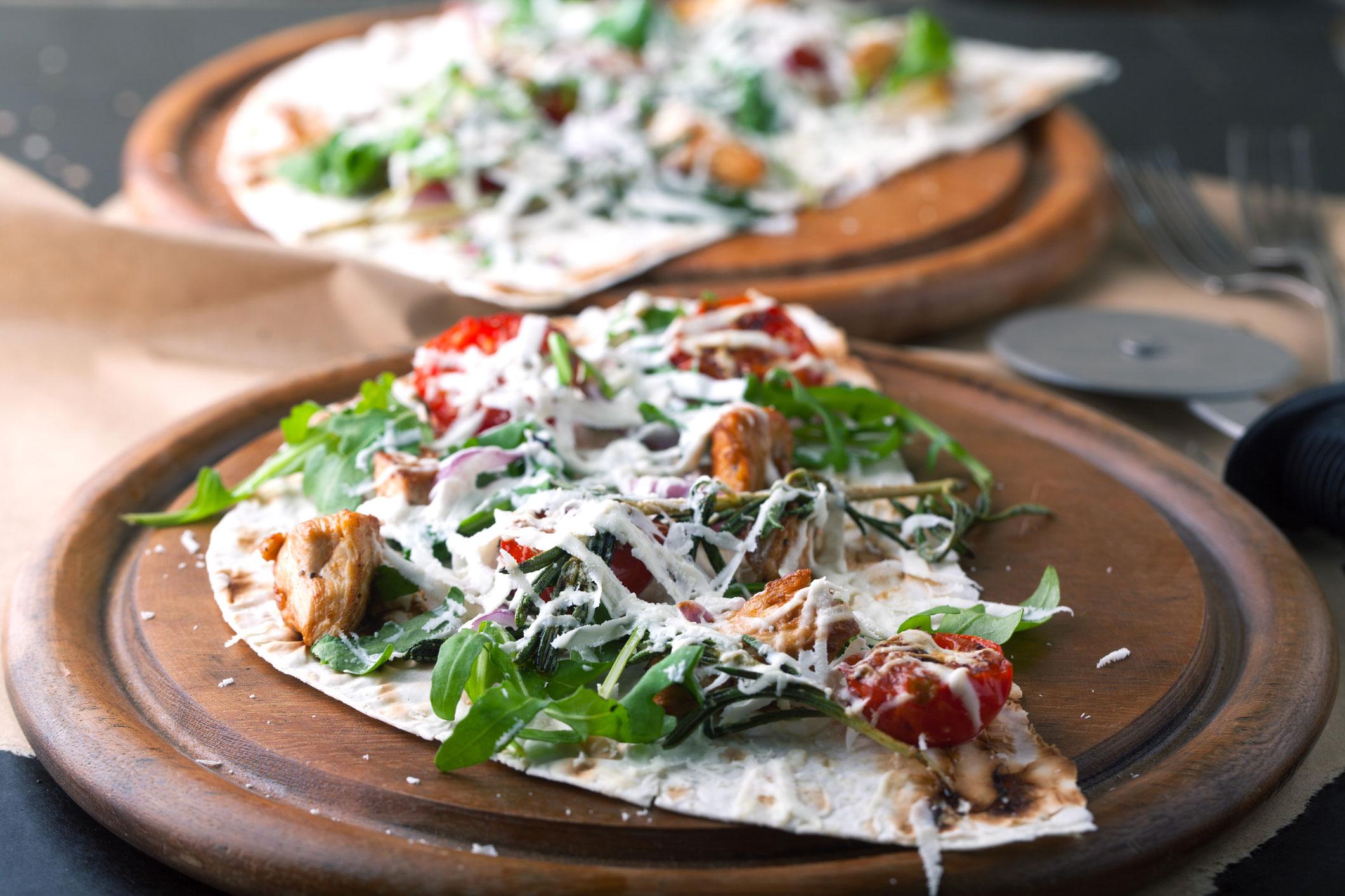 wraps pizza