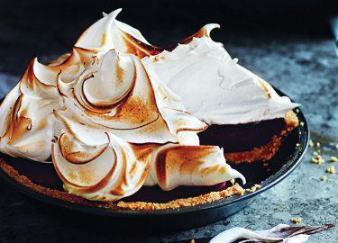 Chocolade-'smore-meringuetaart