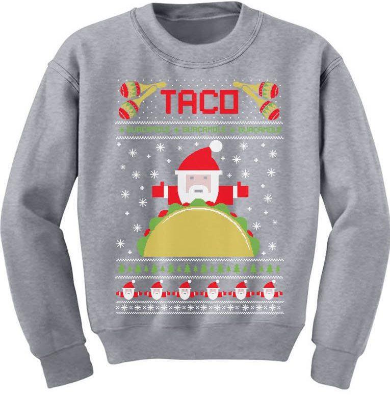 Kersttruien voor foodies met een taco