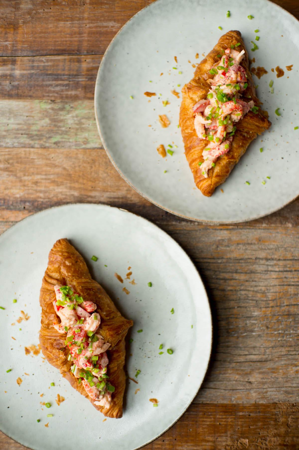 Kerst croissants met rivierkreeft