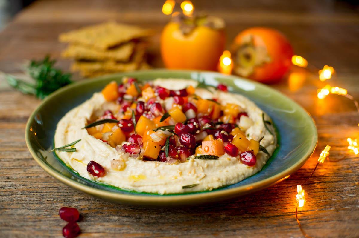 Kerst hummus voor bij je kerstborrel