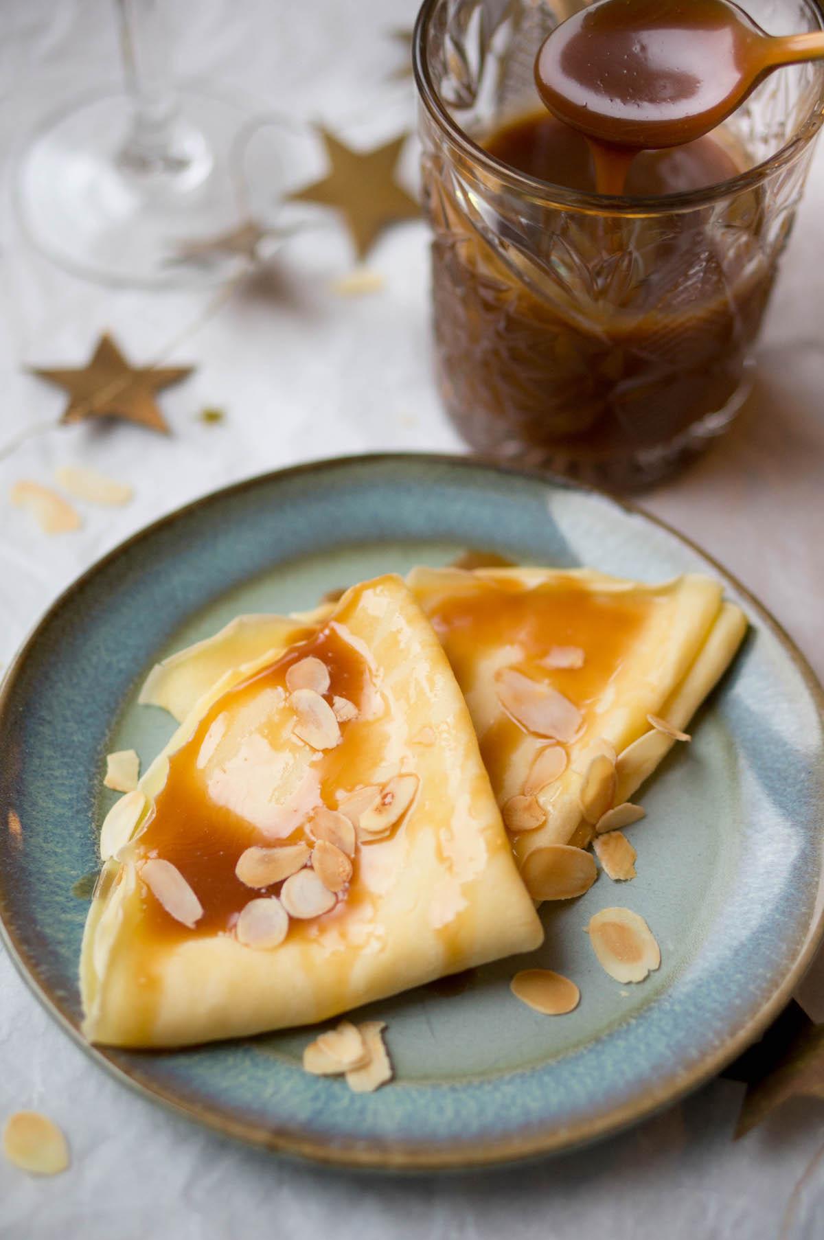 Crêpes met salted caramel: een snel en makkelijk toetje