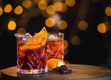 Chocolate martini negroni cocktail
