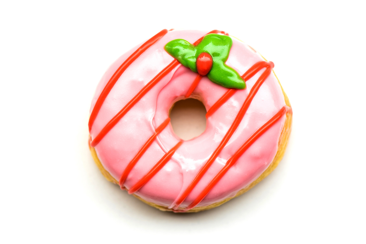 kerst donut van Dunkin' Donuts