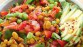 vega scramble met groenten en bonen