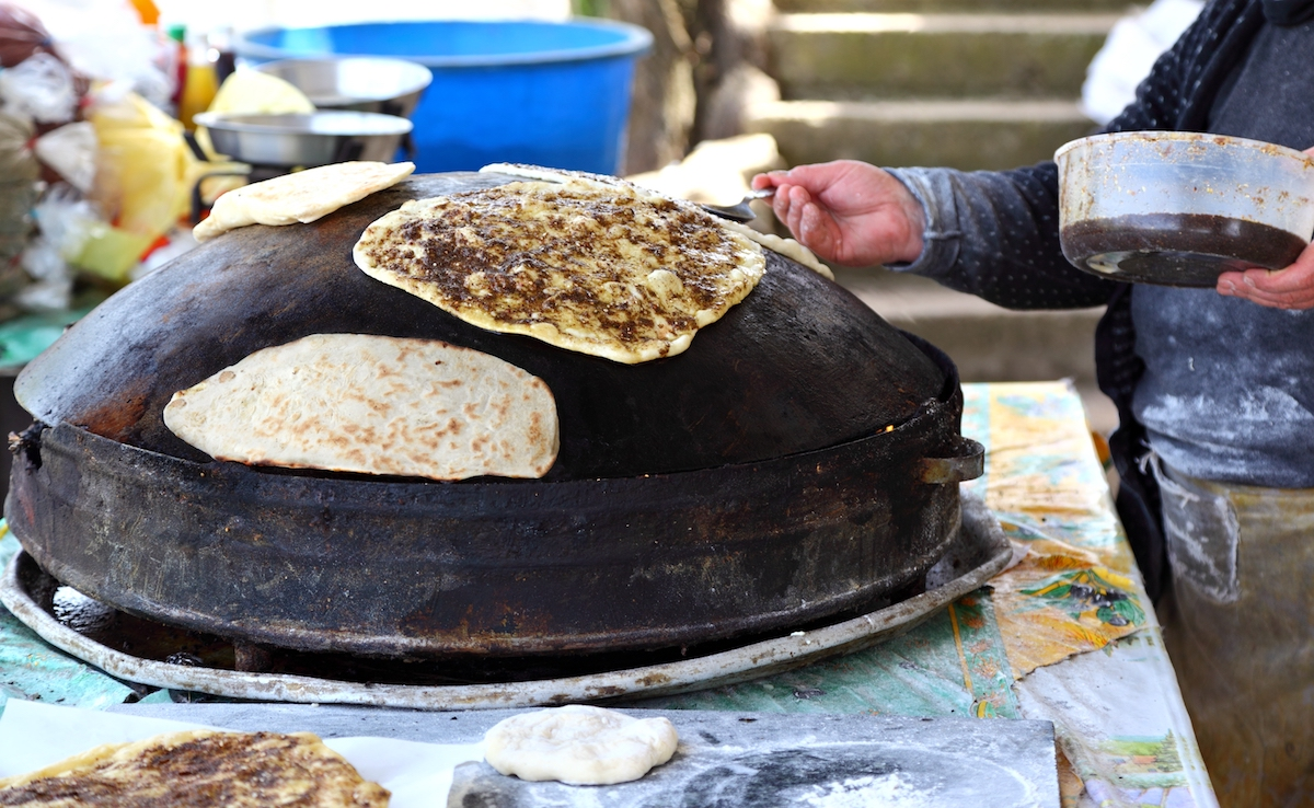 Libanees streetfood: Manoushe