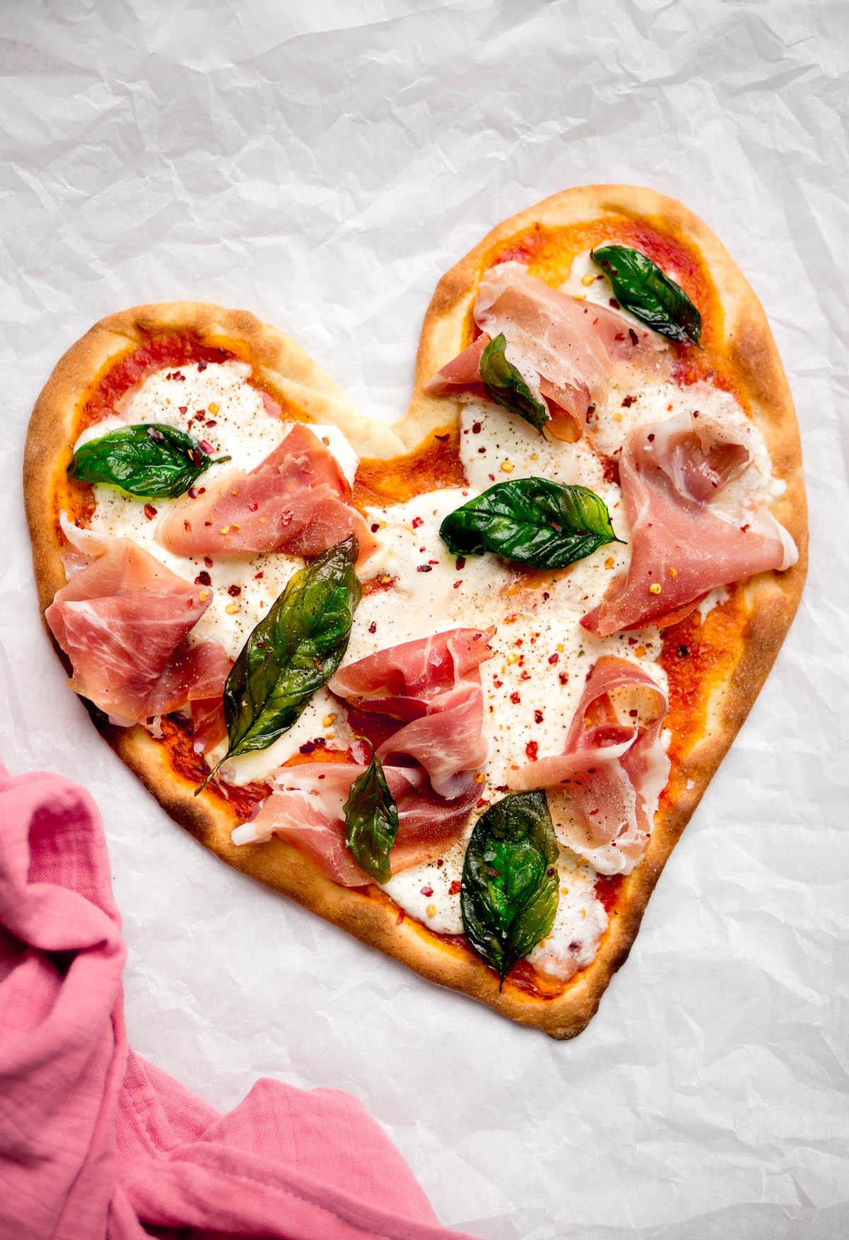 Valentijns grerecht: pizza met burrata
