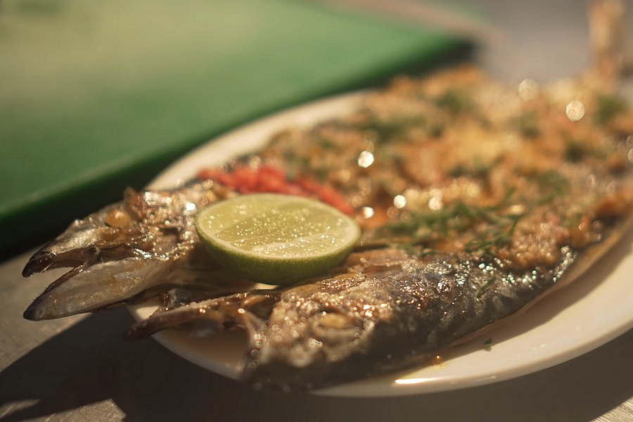 Afbeelding van de makreel van Warung Rosie's