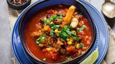 Chili con carne soep recepten met gehakt