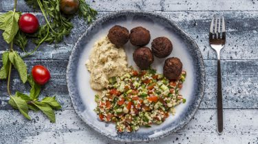 Afbeelding van perfecte falafel met bulgur