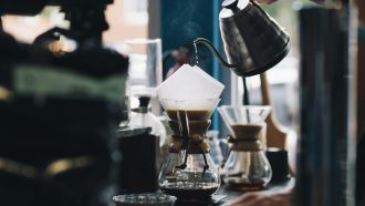coffee pooring process