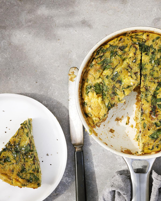 Groente omelet met spinazie