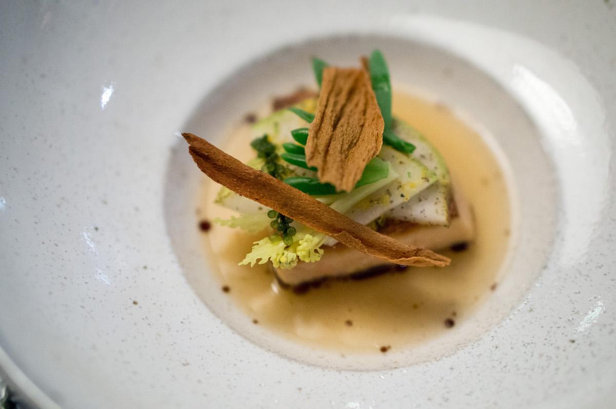 Foie gras met dashi