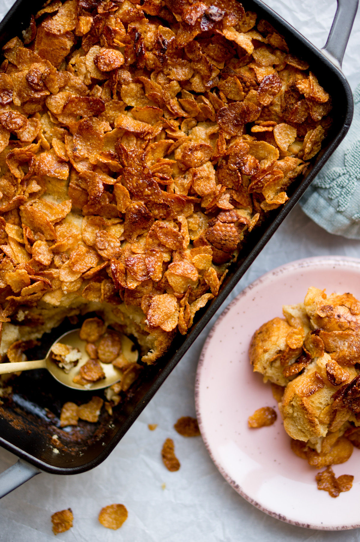 Wentelteefjes met cornflakes-topping