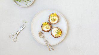 Granola-nestjes met lemon curd