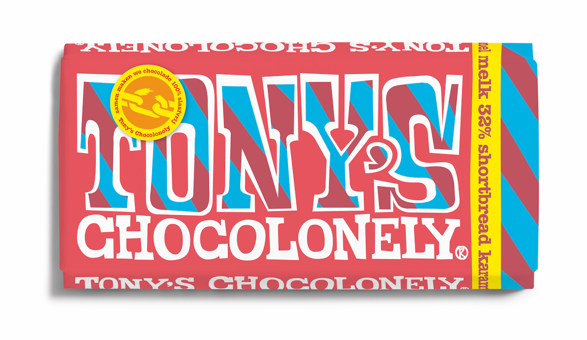 Melk Shortbread Karamel van Tony's Chocolonely