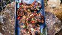 Lamskoteletten van de barbecue