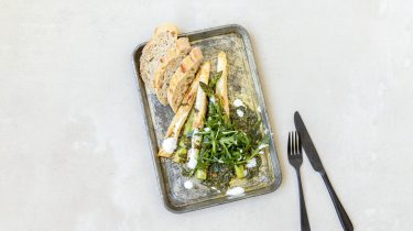Afbeelding gebakken asperges recept