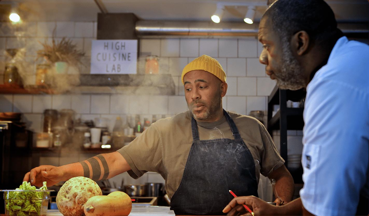 De chefs van High Cuisine