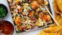 Ovengerechten: kip en bloemkool van de bakplaat