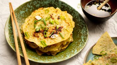 Chinese pannenkoekjes met lente-ui