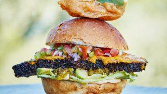 Afbeelding brisket sandwich van de barbecue header