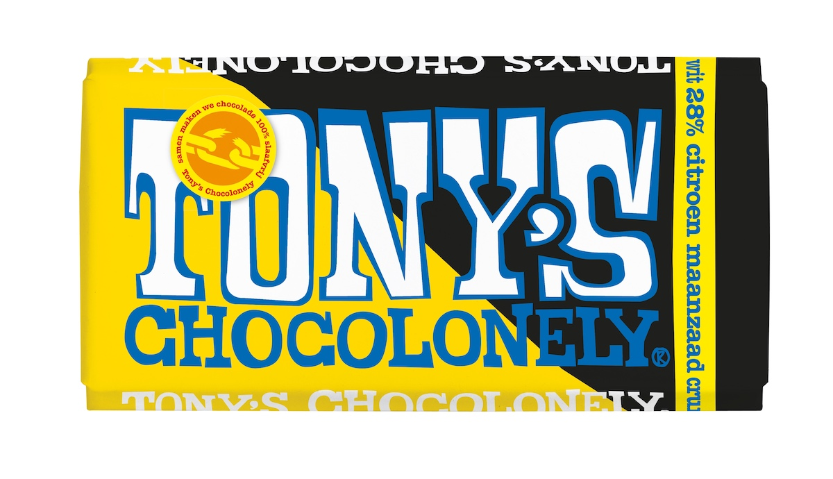 Tony's Chocolonely wit citroen maanzaad