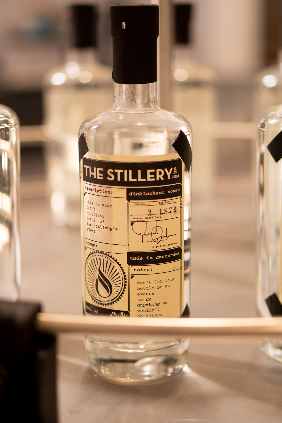 Batchnummer The Stillery vodka