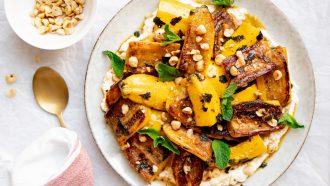 Gekarameliseerde courgettes: vegetarisch hoofdgerecht