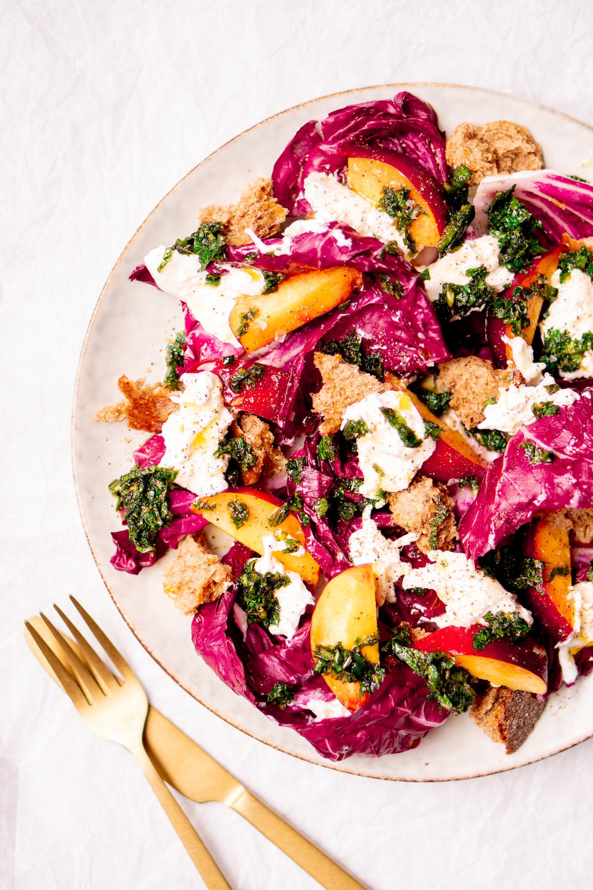 salade als lunch om thuis te werken
