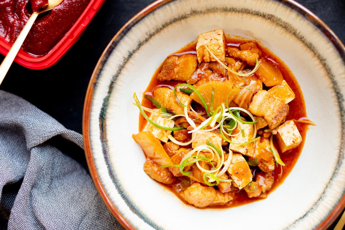 Kimchi jjigae recept: Koreaanse stoofpot