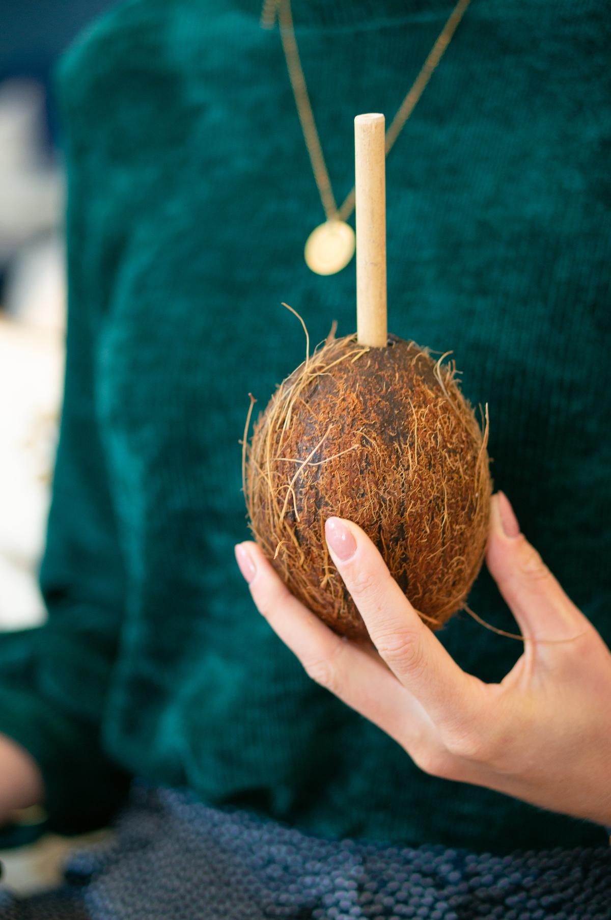 Kokosnoot bij het Waldorf Astoria
