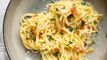 Afbeelding van spaghetti aglio e olio recept