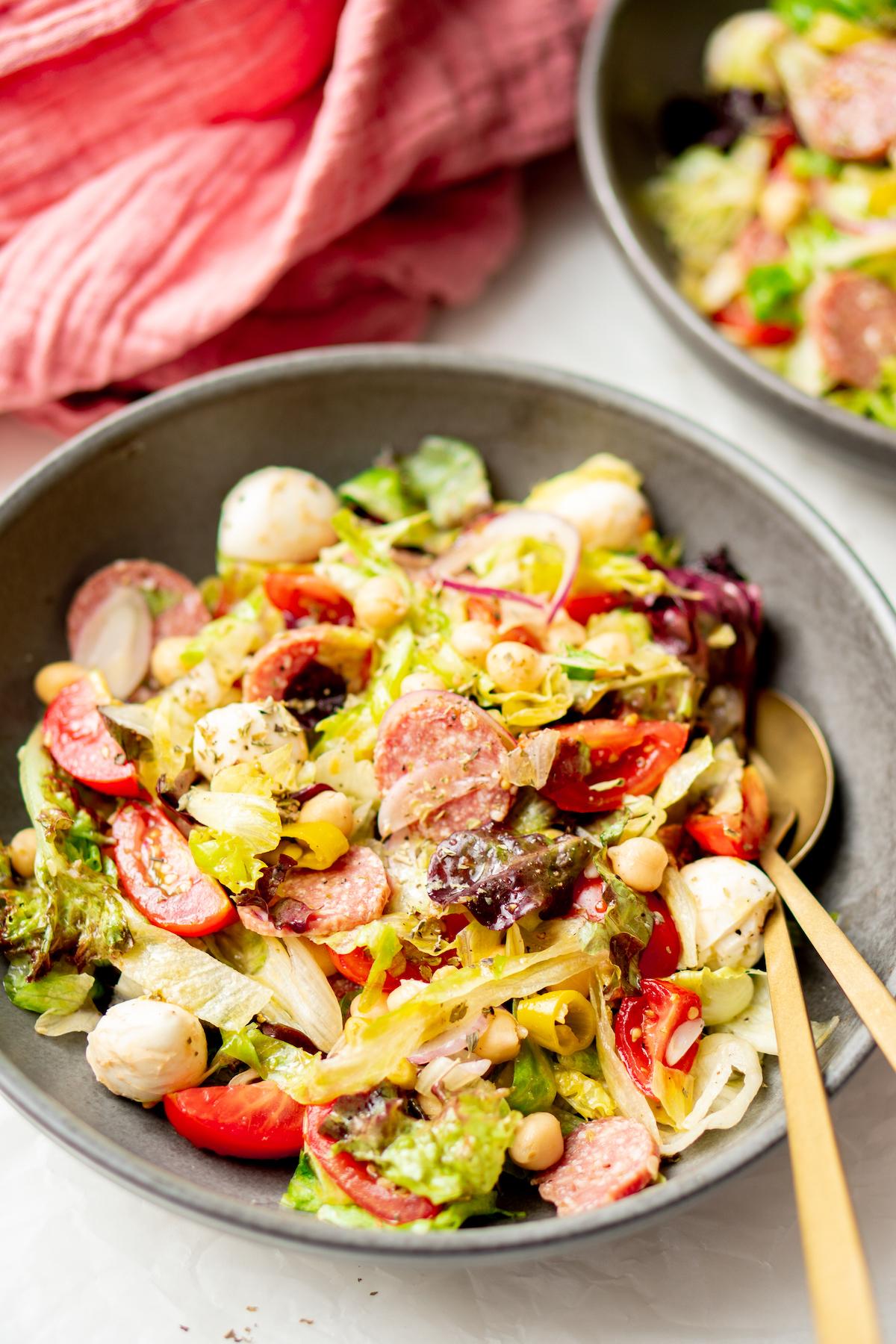 Italiaanse salade: maaltijdsalade