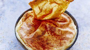 Dessert met kippenhuid en chocolade van Hidde de Brabander