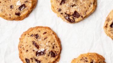 Shortbread cookies met chocolade