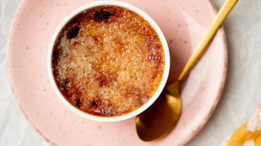 Crème brûlée met pompoen