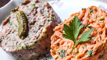 Steak tartaar en worteltartaar