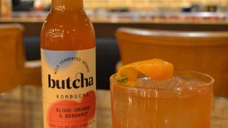 Alcoholvrije cocktail met kombucha