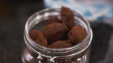 Chocoladetruffels met sojasaus